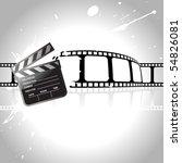 vector clapperboard with reel... | Shutterstock .eps vector #54826081