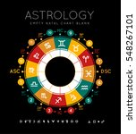 astrology background. example... | Shutterstock .eps vector #548267101