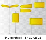 set of yellow road signs... | Shutterstock .eps vector #548272621