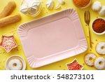 sweet baking ingredients flat... | Shutterstock . vector #548273101