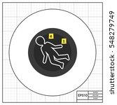 crime scene icon | Shutterstock .eps vector #548279749