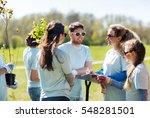 volunteering  charity  people... | Shutterstock . vector #548281501