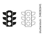 traffic light signal    black... | Shutterstock .eps vector #548282641