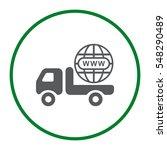 truck icon vector flat design... | Shutterstock .eps vector #548290489