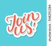 join us  | Shutterstock .eps vector #548291284