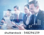 business interface with graphs...   Shutterstock . vector #548296159
