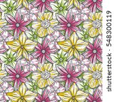 hand drawn pattern with... | Shutterstock .eps vector #548300119