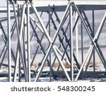 metal structure in the snow in... | Shutterstock . vector #548300245