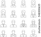 various people icons set.... | Shutterstock .eps vector #548300635