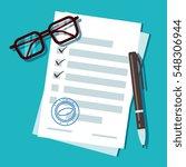 loan application form document  ... | Shutterstock .eps vector #548306944