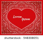 holiday postcard  frame for... | Shutterstock .eps vector #548308051