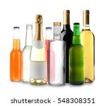 bottles with different drinks... | Shutterstock . vector #548308351