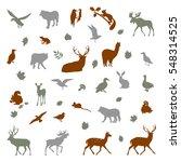 animals living in european... | Shutterstock .eps vector #548314525