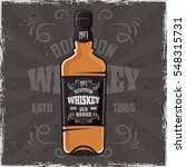 bottle of whiskey vector... | Shutterstock .eps vector #548315731
