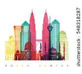 kuala lumpur  malaysia detailed ... | Shutterstock .eps vector #548318287