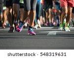 marathon running race  people...   Shutterstock . vector #548319631