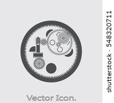 gears icon isolated sign symbol ...