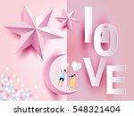 love invitation card valentine... | Shutterstock .eps vector #548321404