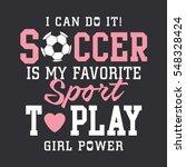 Soccer football girl typography, tee shirt graphics, vectors