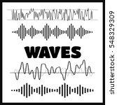 sound waves concept. sound... | Shutterstock . vector #548329309