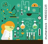a scientist does a chemistry... | Shutterstock .eps vector #548332135