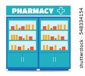 pharmacy opposite the shelves... | Shutterstock . vector #548334154