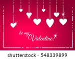 be my valentine greeting card.... | Shutterstock .eps vector #548339899