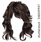 trendy woman long hairs... | Shutterstock .eps vector #548339947