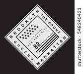 brooklyn manhattan  the bronx... | Shutterstock .eps vector #548340421