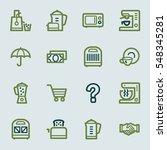 kitchen appliances web icons | Shutterstock .eps vector #548345281