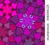 floral seamless pattern. pink... | Shutterstock .eps vector #548348125