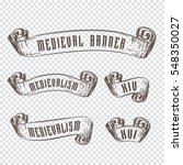 hand drawing old ribbons set... | Shutterstock .eps vector #548350027