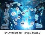 industry 4.0 concept image.... | Shutterstock . vector #548350069