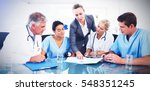 team of doctors and... | Shutterstock . vector #548351245