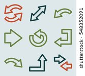 arrows mobile icon  next step... | Shutterstock .eps vector #548352091