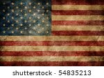 american flag background. | Shutterstock . vector #54835213