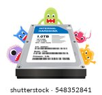 internal harddisk with a virus... | Shutterstock .eps vector #548352841