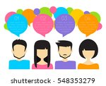 people icons with colorful... | Shutterstock .eps vector #548353279