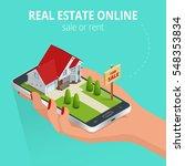 real estate online sale or rent ... | Shutterstock .eps vector #548353834
