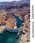 Aerial View Of Hoover Dam And...