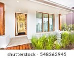 Modern House Entrance With...