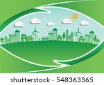 ecology connection  concept... | Shutterstock .eps vector #548363365