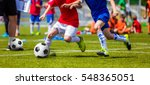 football soccer match for... | Shutterstock . vector #548365051