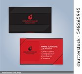 black and red modern business... | Shutterstock .eps vector #548365945