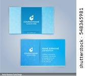 blue and white modern business... | Shutterstock .eps vector #548365981