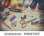 sewing accessories for... | Shutterstock . vector #548367355