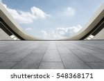 empty floor and modern... | Shutterstock . vector #548368171