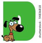 funny cartoons alphabet d | Shutterstock .eps vector #54836818