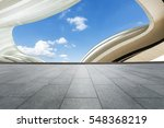 empty floor and modern... | Shutterstock . vector #548368219