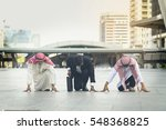arabic businessmen and business ... | Shutterstock . vector #548368825